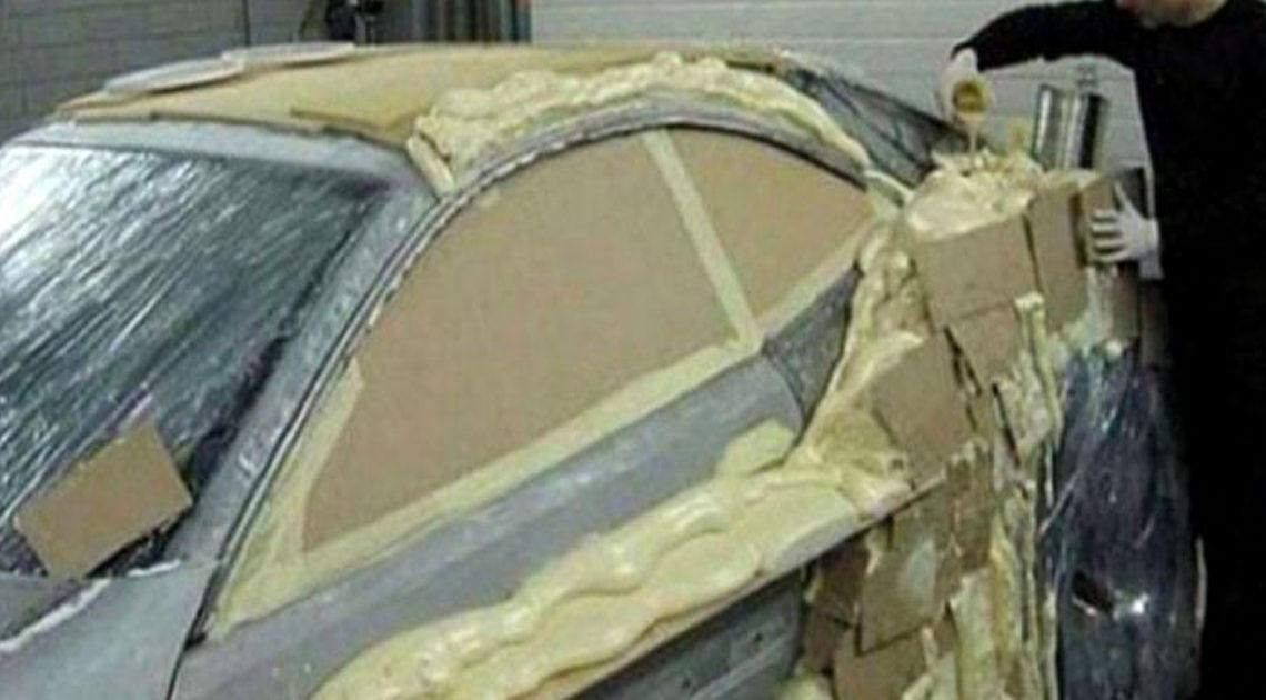 Что случиться с машиной, если покрыть ее монтажной пеной